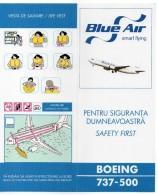SAFETY CARD - CONSIGNE DE SECURITE - BLUE AIR - ROUMANIE - B 737-500 - A Voir ! - - Consignes De Sécurité