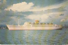 MS Bergensfjord - Norwegian America Line - Boat Liner Paquebot - 2 Scans - Ships