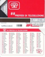 GOLDEN 1378 PREFISSI  15.000 LIRE Us - Italia