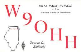 Amateur Radio QSL - W9OHH - Villa Park, IL -USA- 1973 - 2 Scans - Radio Amateur