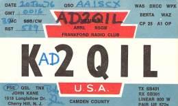 Amateur Radio QSL - AD2QIL / K2QIL - Cherry Hill, NJ -USA- 1976 Bicentennial - 2 Scans - Radio Amateur