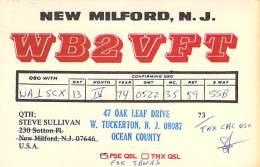 Amateur Radio QSL - WB2VFT - West Tuckerton, NJ -USA- 1974 - 2 Scans - Radio Amateur