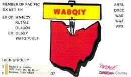 Amateur Radio QSL - WA8QIY - Ravenna, OH -USA- 1974 - 2 Scans - Radio Amateur