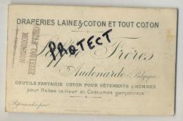 Oudenaarde : Draperies Laine & Coton Et Tout Coton ; Saffre Frères 2 Scan  (naamkaart - Carte De Visite 12 X 8 Cm ) - Vecchi Documenti