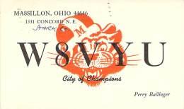Amateur Radio QSL - W8VYU - Massillon, OH -USA- 1974 - 2 Scans - Radio Amateur