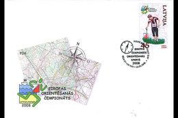 LATVIA LETONIE 2008 Orienteering Sport 2008 - Sellos