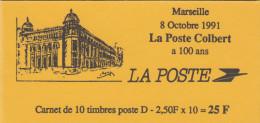 2712-C1,MARSEILLE LA POSTE COLBERT , CARNET MARIANNE DE BRIAT ,NEUF , TIRAGE OFFICIEL - Usados Corriente