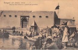 """06114 """"LIBIA - BENGASI - MARINAI CHE LAVORANO E CURIOSI CHE GUARDANO """"  ANIMATA - CART. ILL. ORIG. NON SPEDITA - Libia"""