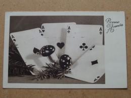 Bonne Année ( 4114/1 ) Anno 1943 ( Zie Foto Voor Details ) !! - Cartes à Jouer
