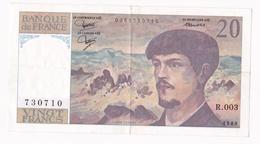20 Francs Debussy 1980. Alphabet R.003 N° 7307710 - 1962-1997 ''Francs''