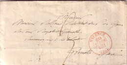 DROME - VALENCE - LE 20 MARS 1832 - T13 EN ROUGE - LETTRE AVEC TEXTE POUR GRENOBLE. - Marcophilie (Lettres)