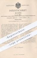Original Patent - Diedrich Meents , Königsberg , 1900 , Flaschenverschluss , Flasche , Flaschen , Glas , Verschluss !!! - Historische Dokumente