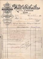 """Austria- Vienna- Fattura Ditta """" Karl Schultz"""" Datata 15.02.1900 Per La Farmacia Bettinazzi Di Arco (Tn) - (BPLAST7) - Austria"""