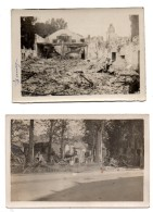 Epernay. Guerre 14-18. Bombardements. 4 Cartes Photos. - Epernay