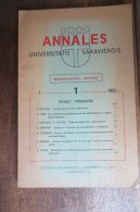 UNIVERSITE DE LA SARRE ANNALES 1952  N THEOBALD HISTOIRE GEOLOGIQUE DE L'EST DU BASSIN PARISIEN - Scienza