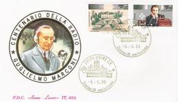 Fdc Roma Luxor:  CENTENARIO RADIO 1995, No Viaggiata;  AF_Udine - 6. 1946-.. Republik