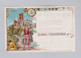 Motiv Litho AK 1901-08-05 Bahnpost Stempel Gruss Aus Drachenfels GH#271 - Souvenir De...