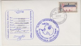 Germany 1987 Heli Flight (1.1.1987) From Polarstern To  Bouvet Cover Si Pilot (31502) - Poolvluchten
