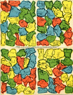 """Puzzle Carte De France - Publicité """"jus De Raisin Challand"""" - Puzzles"""