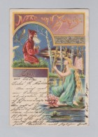 Motiv Litho AK 1899-09-20 Ohligs Nixe Und Zwerg - Contes, Fables & Légendes