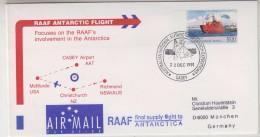 AAT 1991 Casey RAAF Antarctic Flight Cover (31504) - Poolvluchten