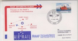 AAT 1991 Casey RAAF Antarctic Flight Cover (31504) - Polar Flights