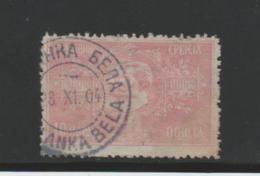Serbien Michel Nr. 78, 15 Pa, Rotlila O - Serbien