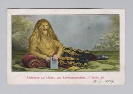 Motiv Litho AK Ungebraucht 1909-09-18 Andenken An Lionel Den Löwenmenschen Verlag Joh Liebhold - Cartes Postales