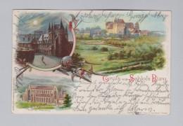 Motiv Litho AK 1898-01-16 Burg Gruss Aus Schloss Burg Litho Aug Finkenrath - Souvenir De...