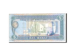 Turkmanistan, 5 Manat, 1993, Undated, KM:2, TTB - Turkménistan