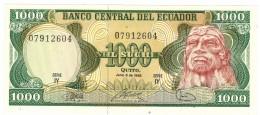 Ecuador, 1000 Sucres, 1988, UNC.  Free Ship. To USA. - Ecuador