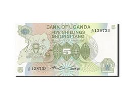Uganda, 5 Shillings, 1982, Undated (1982), KM:15, SPL - Ouganda
