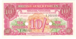 British Armed Forces , 10 Shill. M28b, 3th Series, UNC.  Free Ship. To USA. - British Armed Forces & Special Vouchers