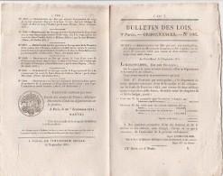 Bulletin Des Lois N° 106 - 1831- Péage Pont De Lergue Hérault - Décrets & Lois