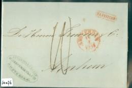 HANDGESCHREVEN BRIEF NA POSTTIJD Uit 1854 Van A'DAM Aan FROWEIN Te ARNHEM (10076) - 1852-1890 (Guillaume III)
