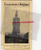 BELGIQUE - EXCURSIONS - BRUXELLES-MONS-1928-GAND-MALINES-OSTENDE-VERVIERS-DINANT-CHARLEROI-NAMUR-ANVERS-LIERRE-ALOST-HUY - Tourism