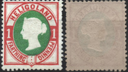 HELIGOLAND Helgoland ALLEMAGNE GERMANY 10 * Sg Reine Victoria (réimpression) - Heligoland