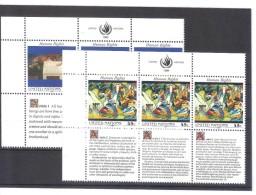 MAH561 VEREINTE NATIONEN UNO NEW YORK 1989  Michl 595/96  2 SECHSERBLÖCKE ** Postfrisch - New York -  VN Hauptquartier