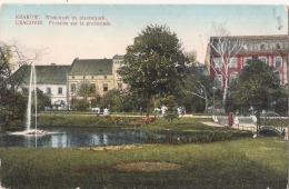 Cracovie Fontaine Sur La Promenade TB écrite - Polonia