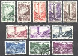 Andorre: Yvert Entre N°138/53°; 11 Valeurs - Andorre Français