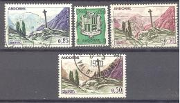 Andorre: Yvert Entre N°154/61°; 4 Valeurs - Andorre Français
