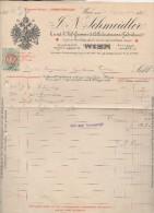 """Austria - Vienna - Fattura Della Ditta """" J.N. Schmeidler """" Datata 23.09.1895 - (BPLAST6) - Austria"""