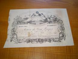 Franc Maçonnerie? Oeil De La Providence, Action Banque Agricole Industrielle Et Commerciale L'Unité 1844 Valence; - Banque & Assurance
