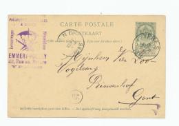 YPRES - Entier Postal Armoiries 1896 - Cachet Illustré Parapluies , Ombrelles, Cannes Emmery-Polley --  WW960 - Entiers Postaux
