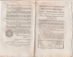 Bulletin Des Lois N° 116 - 1831 - Secours Aux Réfugiés Etrangers, Mont De Piété Paris, Règlement Pêche En Rivière, Pont - Décrets & Lois