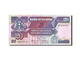 Uganda, 20 Shillings, 1987, 1988, KM:29b, SPL - Ouganda