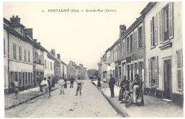 Cpa Pontarmé - Grande Rue ( Centre ) - Autres Communes