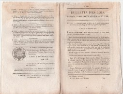 Bulletin Des Lois N° 120 - 1831 - Ecole Polytechnique Et Marine , , Pont Sur L'Ardèche à Vals - Décrets & Lois