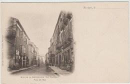BESSEGES (30) - RUE DE LA REPUBLIQUE (LE TRAVERS) - VUE DU BAS - Bessèges