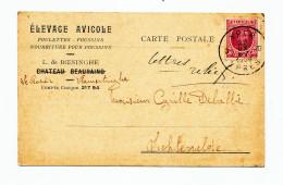 YPRES - Carte Privée TP Houyoux YPER 1926 - Entete Elevage Avicole L. De Boesinghe à VLAMERTINGHE --  WW967 - 1922-1927 Houyoux